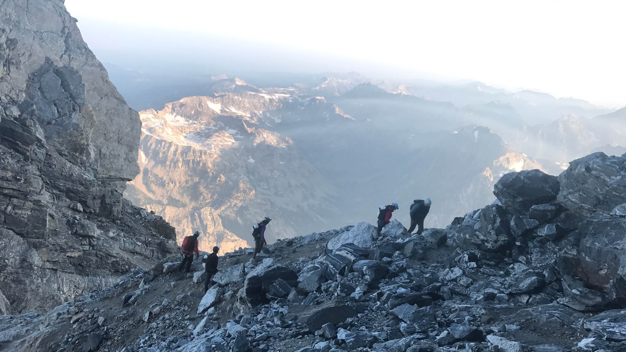 Cokie Berenyi and team climbing one of the Great seven summits.